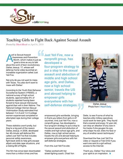 Teaching Girls to Fight Back Against Sexual Assault