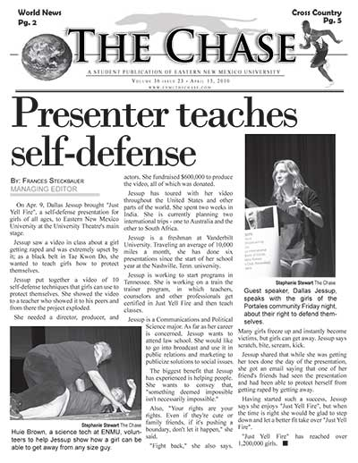 Presenter Teaches Self-defense
