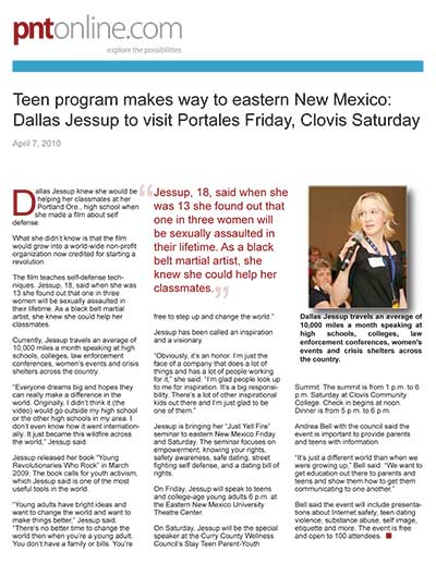 Teen program makes way to eastern New Mexico: Dallas Jessup to visit Portales Friday, Clovis Saturday