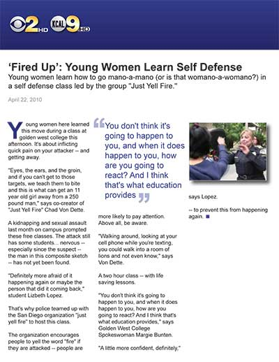 'Fired Up': Young Women Learn Self Defense