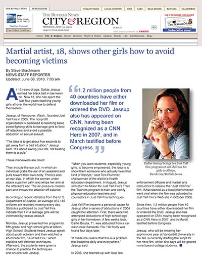 Martial artist, 18, shows other girls how to avoid becoming victims
