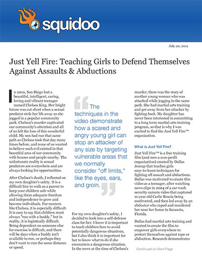 Just Yell Fire: Teaching Girls to Defend Themselves Against Assaults & Abductions