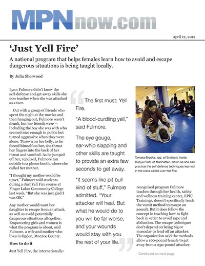 'Just Yell Fire'