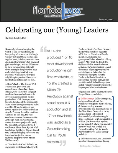 Celebrating our (Young) Leaders
