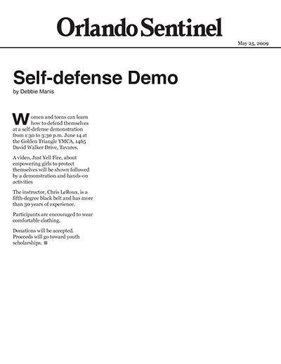 Self-defense Demo