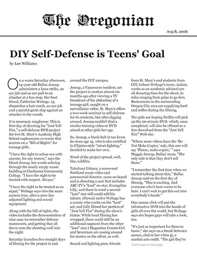 DIY Self-Defense is Teens' Goal