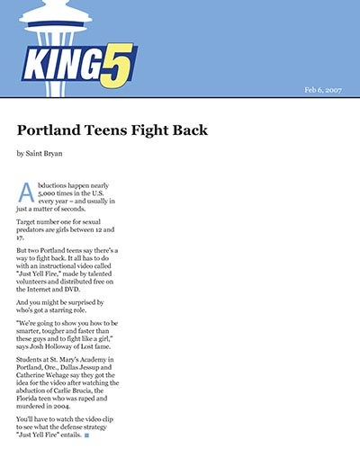 Portland Teens Fight Back