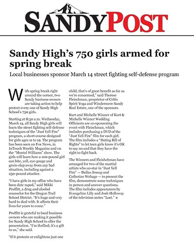 Sandy High's 750 girls armed for spring break