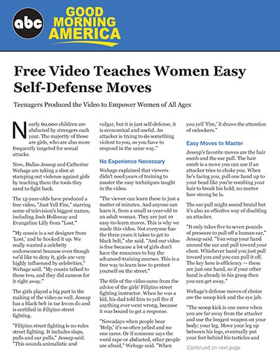 Free Video Teaches Women Easy Self-Defense Moves