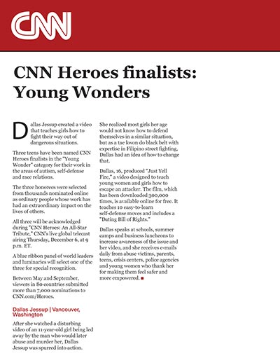 CNN Heroes finalists: Young Wonders