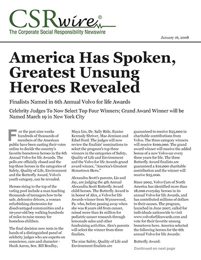 America Has Spoken, Greatest Unsung Heroes Revealed