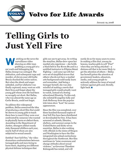 Telling Girls to Just Yell Fire