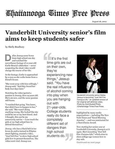 Vanderbilt University senior's film aims to keep students safer