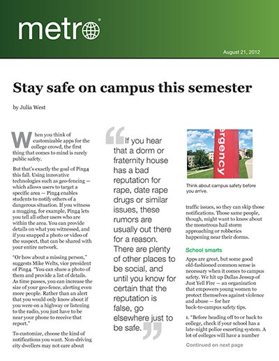 Stay safe on campus this semester