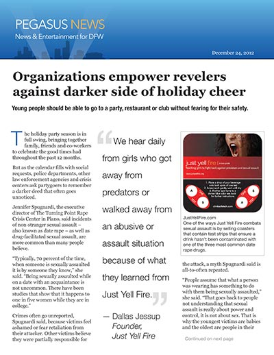 Organizations empower revelers against darker side of holiday cheer