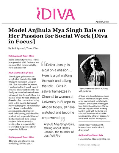 Model Anjhula Mya Singh Bais on Her Passion for Social Work [Diva in Focus]