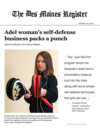 Adel woman's self-defense business packs a punch