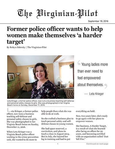 Former police officer wants to help women make themselves 'a harder target'