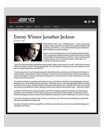 Emmy Winner Jonathan Jackson
