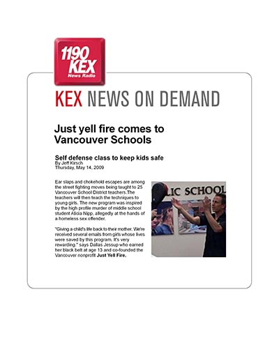 Just Yell Fire comes to Vancouver Schools