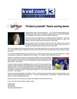Protect yourself: Teens saving teens