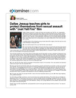 """Dallas Jessup teaches girls to protect themselves from sexual assault with """"Just Yell Fire"""" film"""