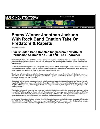 Jonathan Jackson with Enation Takes on Predators & Rapists