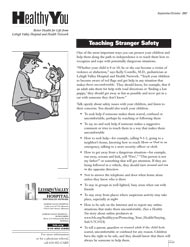 Teaching Stranger Safety