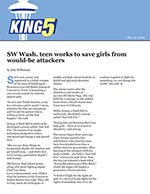 SW Wash. teen works to save girls from would-be attackers