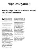 Sandy High female students attend self-defense session