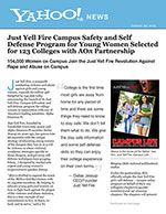 ust Yell Fire Campus Safety and Self Defense Program for Young Women Selected for 123 Colleges with AOπ Partnership