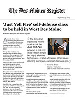 'Just Yell Fire' self-defense class to be held in West Des Moines