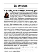 In a word, Portland teen protects girls